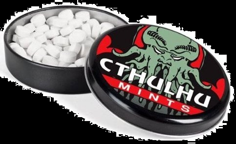 Halloween Candy Gifts 2012 Cthulhu Mints and Tin