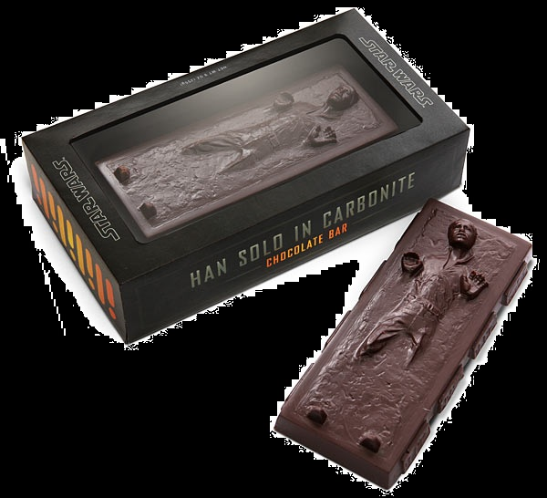 Halloween Candy Gifts Star Wars Hon Solo Carbonite Chocolate Bar