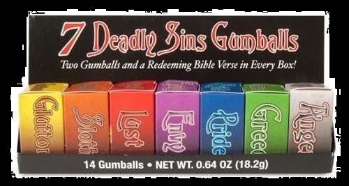 Halloween Candy Gifts 7 Deadly Sins Gum