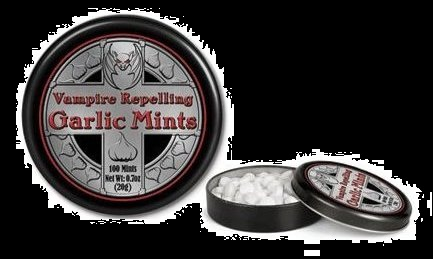 Halloween Candy Gifts Vampire Repelling Garlic Mints