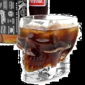 Halloween Candy Gifts Skull Drinking Glass