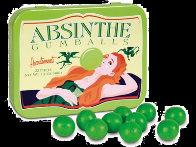 Halloween Candy Gifts Absinthe Bubblegum Candy