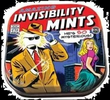 Halloween Candy Gifts Invisiblity Mints and Tin