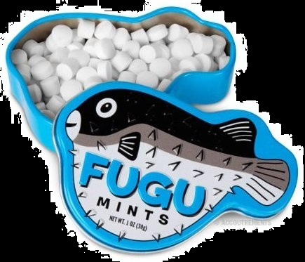Halloween Candy Gifts Mint Deadly Fugu Fish Mints